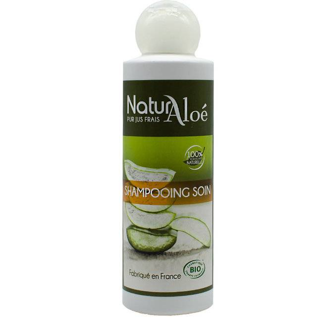 NaturAloe Shampoing soin bio à l'Aloe vera 200ml