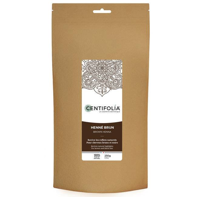 Centifolia Henné Brun Noir - Reflets pour Cheveux bruns - Poudre 250g