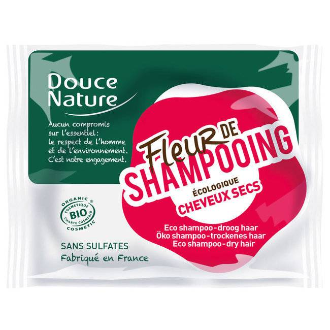 Douce Nature Fleur de shampoing Cheveux secs - Shampoing solide bio 85g