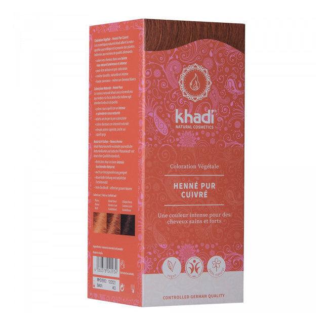 Khadi Henné pur Cuivré - Coloration végétale naturelle 100g