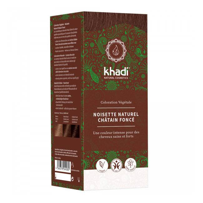 Khadi Noisette naturel Châtain foncé - Coloration végétale naturelle 100g