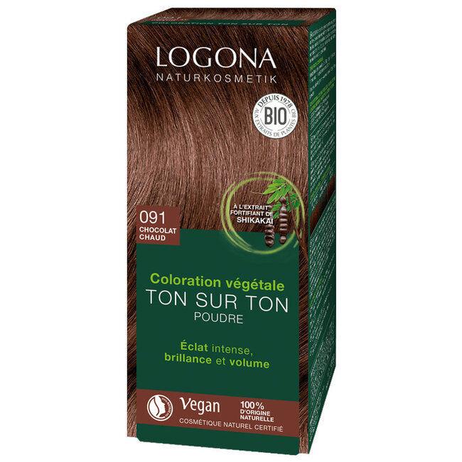 Logona Chocolat chaud - Coloration végétale ton sur ton - Poudre 100g