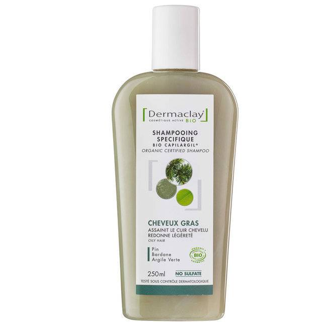 Dermaclay Shampoing Bio Capilargil Cheveux Gras 250ml