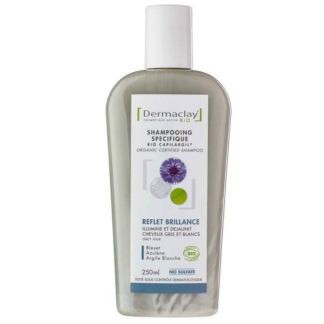 Dermaclay Shampoing Bio Capilargil Reflet et Brillance - Cheveux gris 250ml