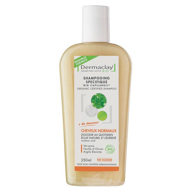 Dermaclay Shampoing Bio Capilargil Cheveux Fréquent - Cheveux normaux 250ml