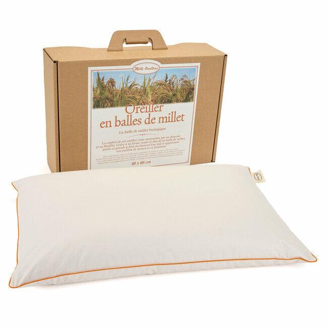 Mille Oreillers Oreiller en balles de Millet - 40 x 60 cm