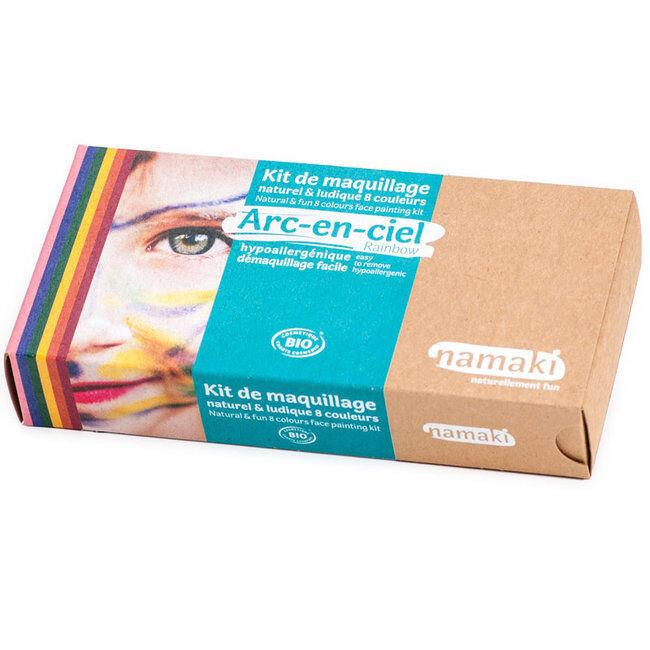 Namaki Kit de maquillage bio Enfant - Arc-en-Ciel - 8 couleurs