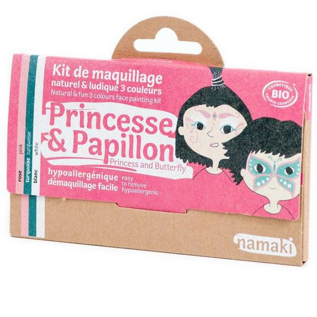 Namaki Kit de maquillage bio Enfant - Princesse et Papillon - 3 couleurs