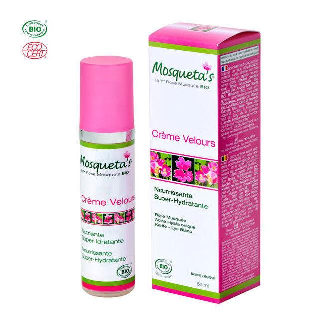 Mosqueta's Crème Velours bio Super hydratante à la rose musquée 50ml