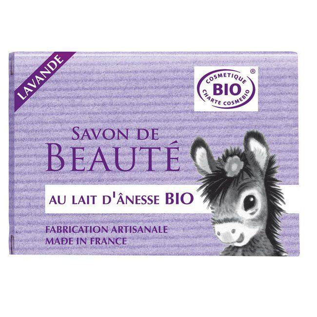 Cosmo Naturel Savon au lait d'anesse bio Lavande 100g