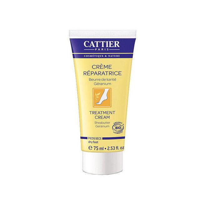 Cattier Crème réparatrice pieds secs bio au beurre de karité 75ml