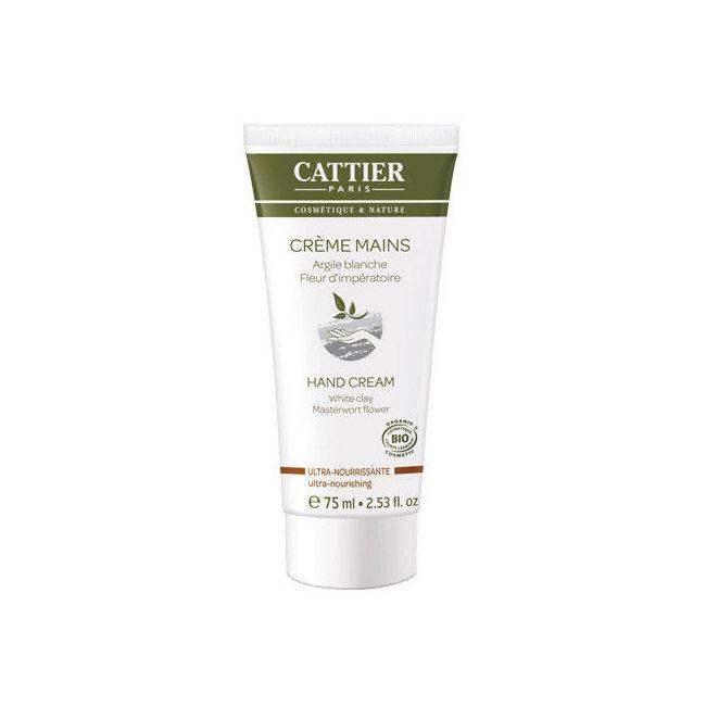 Cattier Crème mains ultra nourrissante bio - Argile blanche 75ml