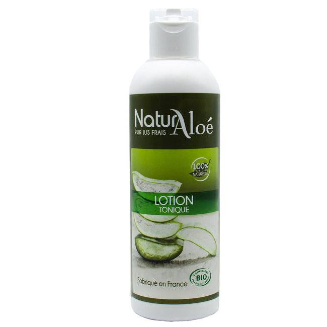 NaturAloe Lotion tonique bio à l'Aloe vera 200ml