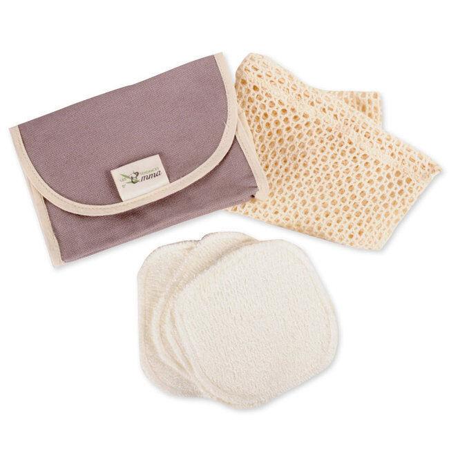 Les Tendances d'Emma Kit Eco Belle Nomade Coton bio biface - Coton démaquillant lavable