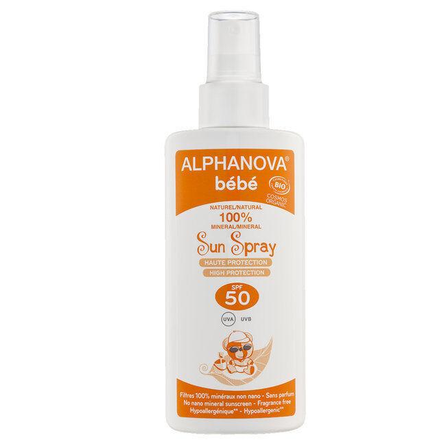 Alphanova Spray solaire Bébé bio SPF 50 Très Haute protection 125ml