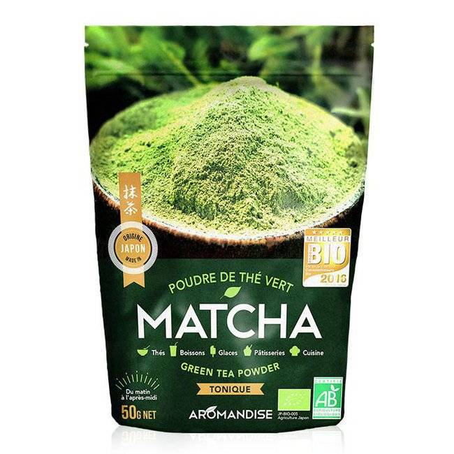 Aromandise Thé Vert Matcha bio en poudre 50g