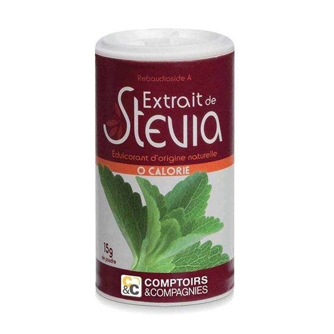 Comptoirs et Compagnies Stévia en poudre - Boîte de 15g