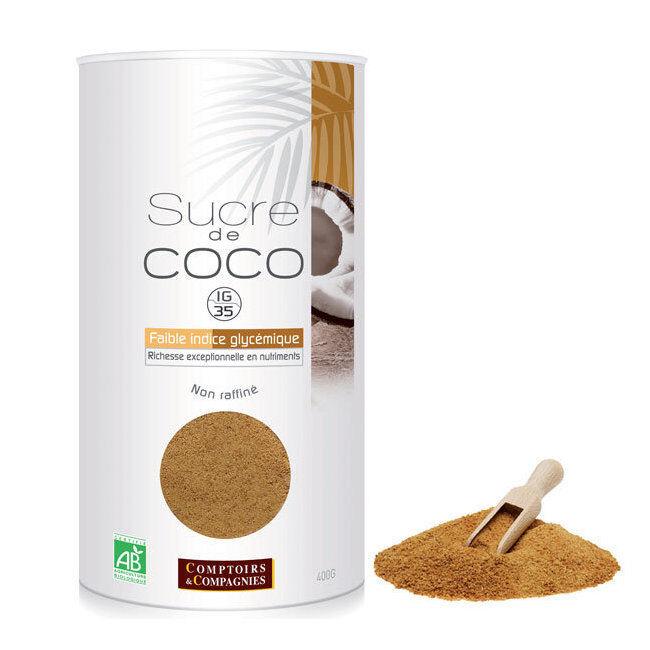 Comptoirs et Compagnies Sucre de coco bio - Boîte rechargeable 400g
