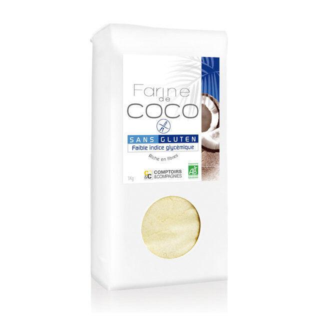 Comptoirs et Compagnies Farine de noix de coco bio 1kg - Sans gluten