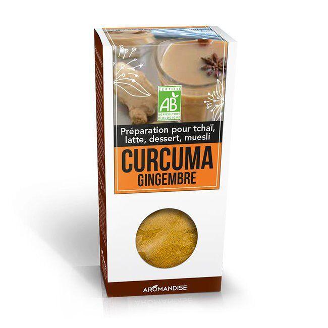 Aromandise Curcuma Latte Gingembre bio 60g