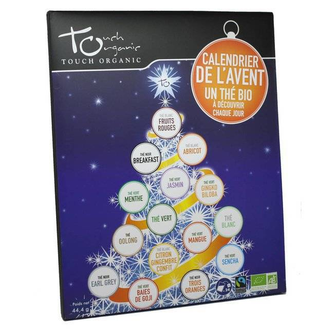 Touch Organic Calendrier de l'Avent Thés bio - 24 sachets