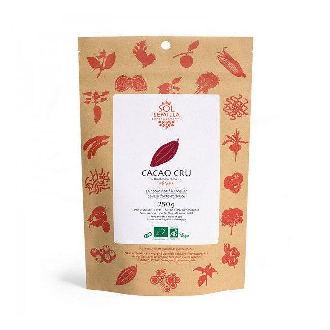 Sol Semilla Fèves de cacao cru bio 250g