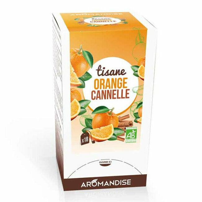 Aromandise Tisane Bio Orange Cannelle 20 sachets
