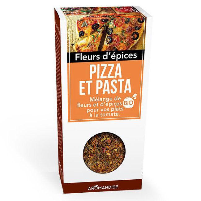 Aromandise Fleurs d'épices bio Pizza et Pasta pour la cuisine 25g