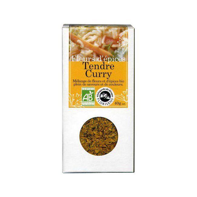 Hildegarde de Bingen Fleurs d'épices bio Tendre Curry pour la cuisine 40g