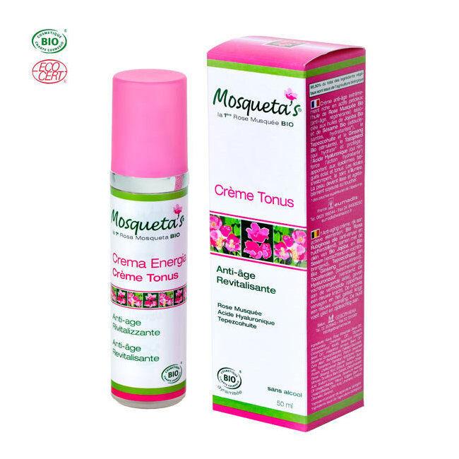 Mosqueta's Crème Tonus bio anti-rides à l'huile de rose musquée 50ml