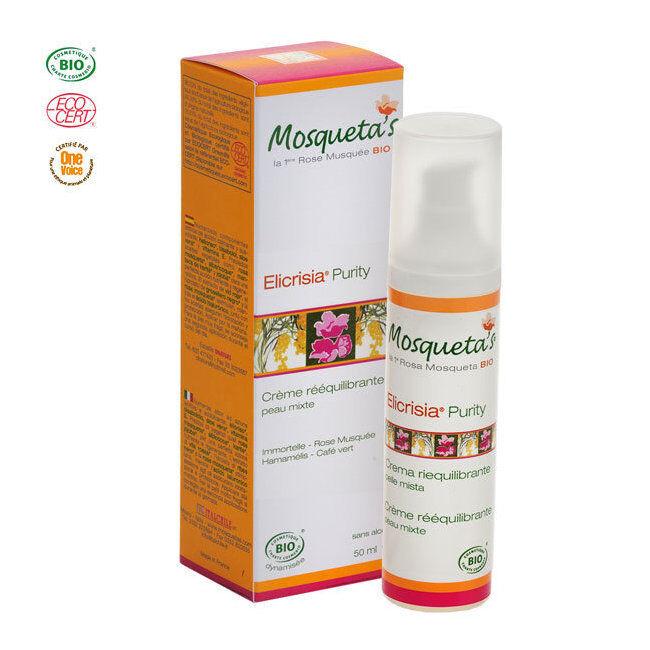 Mosqueta's Crème rééquilibrante Purity bio Peau mixte à la Rose musquée 50ml