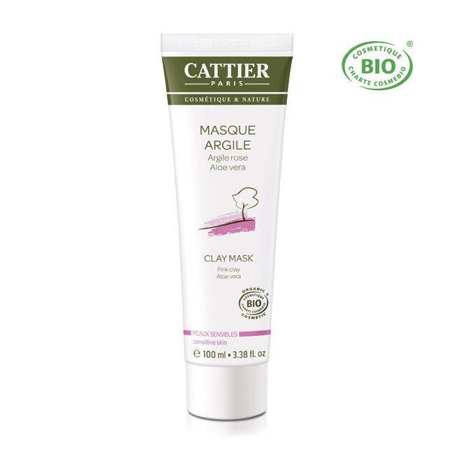 Cattier Masque Argile rose bio - Peaux sensibles 100ml