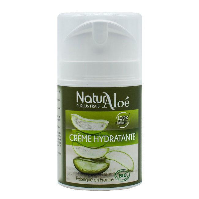 NaturAloe Crème hydratante visage bio à l'Aloe vera 50ml