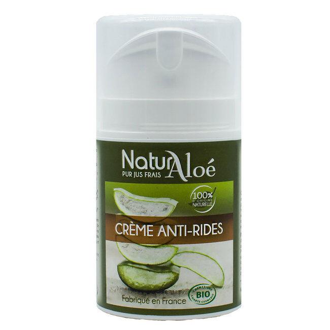 NaturAloe Crème anti-rides bio à l'Aloe vera 50ml