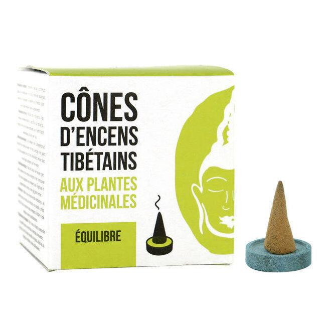 Encens du Monde Cône d'encens Tibétains Equilibre aux plantes médicinales - 15 cônes