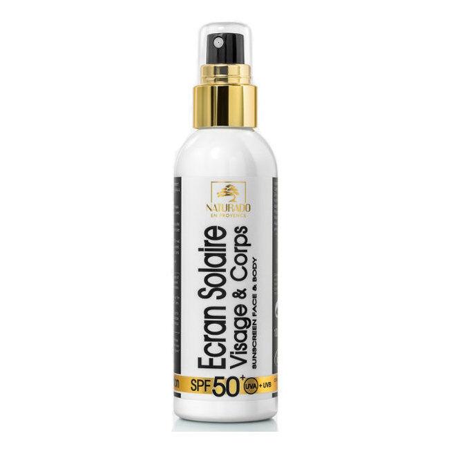 Naturado Crème solaire bio Indice 50+ Très haute Protection Visage 100ml