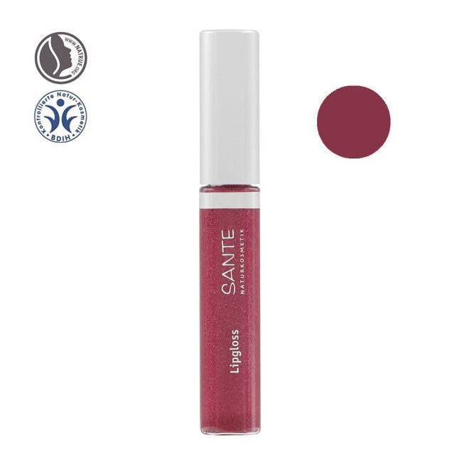 Sante Naturkosmetik Gloss à lèvres bio n°04 Red pink 8ml