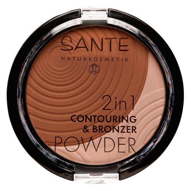 Sante Naturkosmetik 2 en 1 Contouring et Poudre Bronzante Dark Medium n°02 Bio 9g