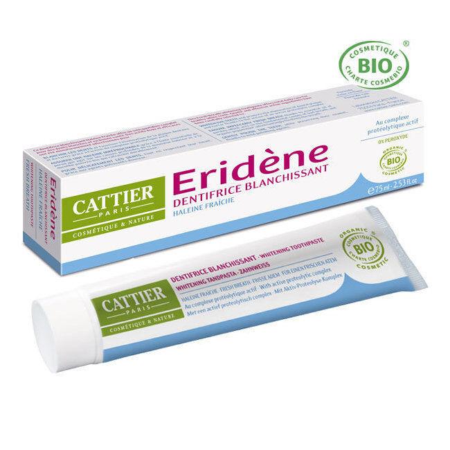 Cattier Dentifrice blanchissant Eridène Haleine fraîche bio 75ml