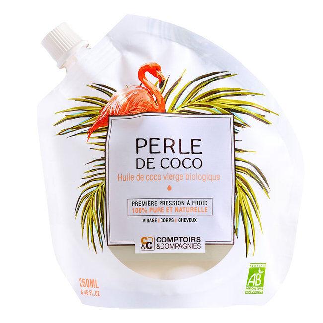 Comptoirs et Compagnies Perle de coco - Huile de coco vierge bio - Visage, Cheveux, Corps 250ml