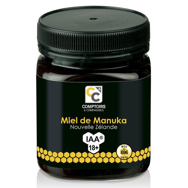 Comptoirs et Compagnies Miel de Manuka IAA 18+ Pot de 250g
