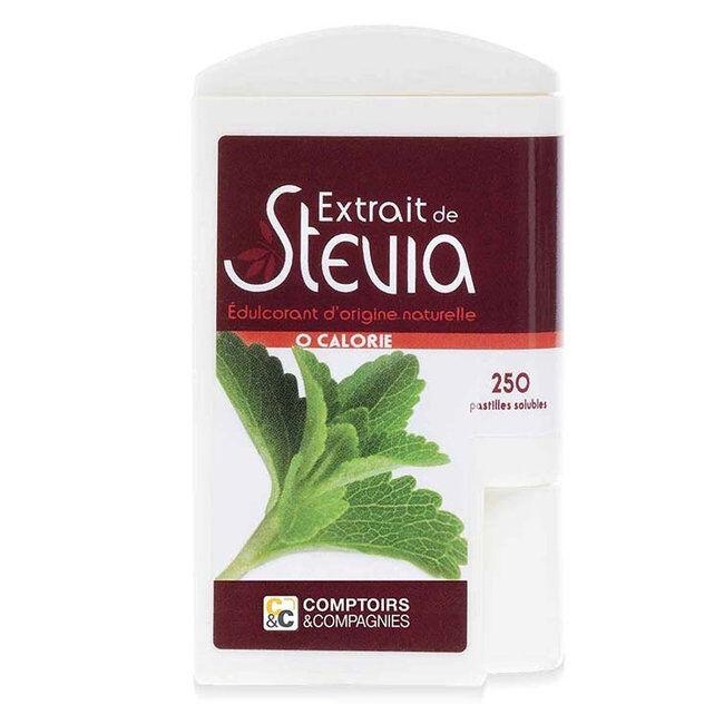 Comptoirs et Compagnies Stévia - Distributeur de 250 pastilles