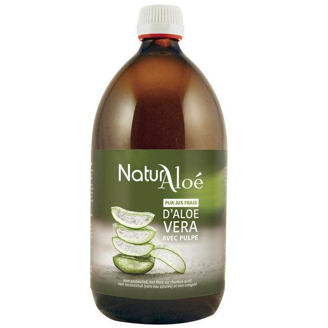 NaturAloe Pulpe d'Aloe vera bio - Pur jus frais 500ml