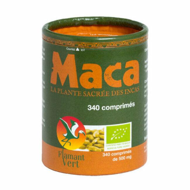Flamant Vert Maca bio 500mg 340 comprimés