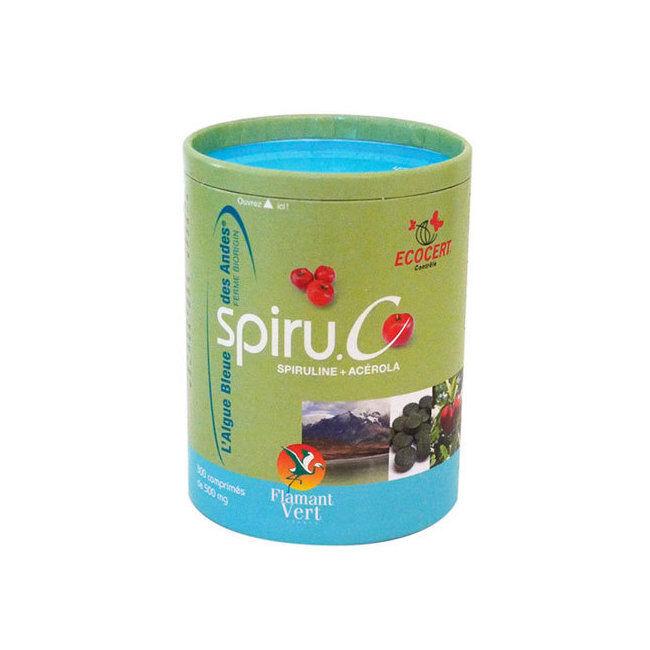 Flamant Vert Spiru.C Spiruline et Acérola bio 300 comprimés