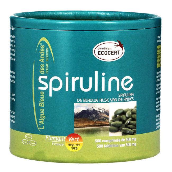 Flamant Vert Spiruline Ecocert 500mg 500 comprimés