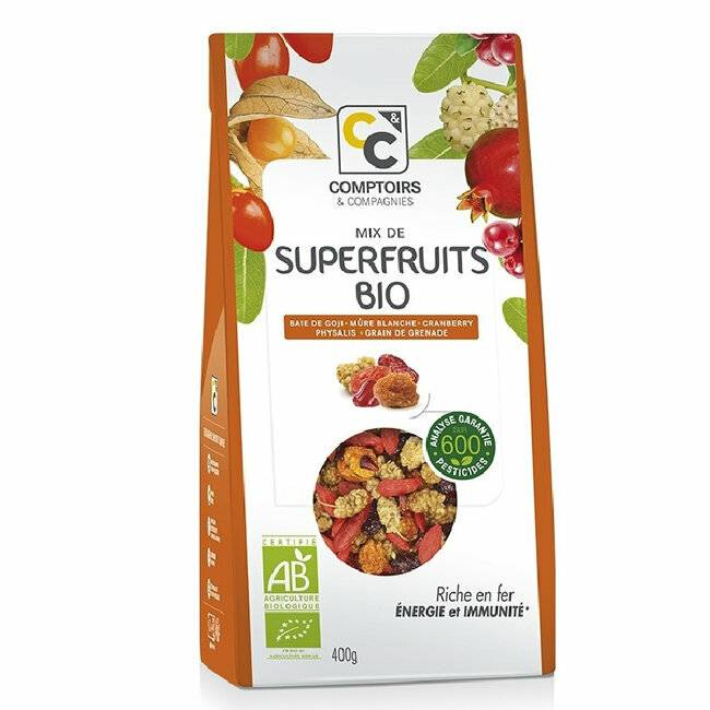 Comptoirs et Compagnies Mix Superfruits bio Goji, cranberries, mulberries 400g
