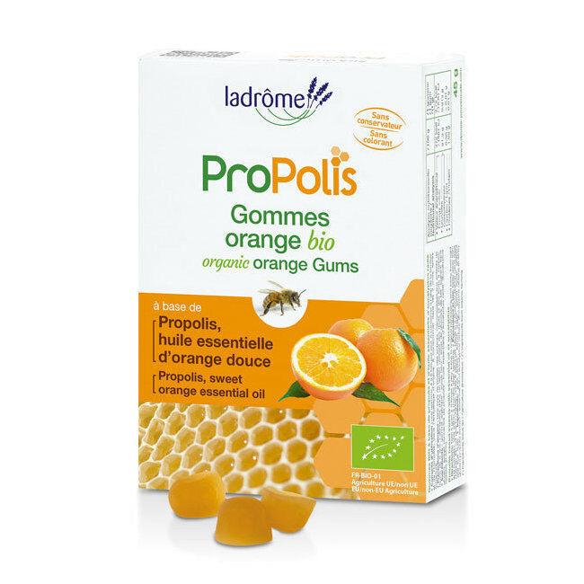 Ladrôme Gommes Propolis et Orange bio 45g