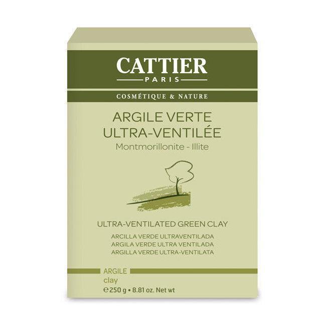 Cattier Argile verte ultra ventilée - Montmorillonite Illite en poudre 250g