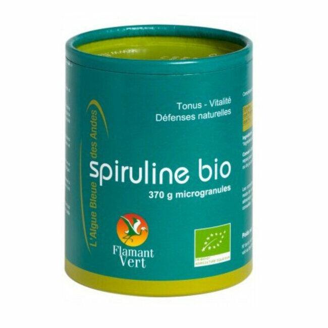 Flamant Vert Spiruline Microgranules Ecocert - Grand format 370g